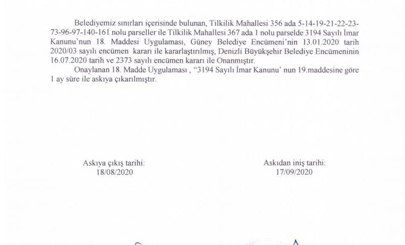3194 SAYILI KANUN 18. MADDESİ